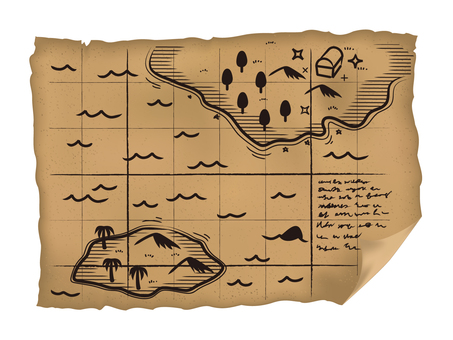 Old Paper 4.5 Map of Treasures with Patterns · Haikai
