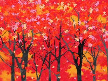 Autumn leaves Sunset 6