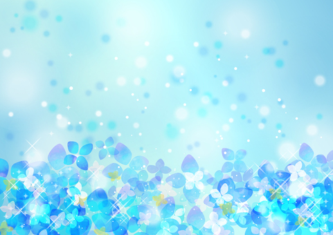Seasonal event material 007 hydrangea background