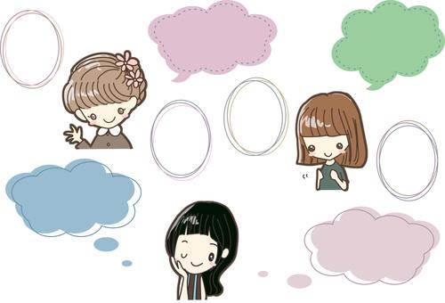 Girl and speech bubble D