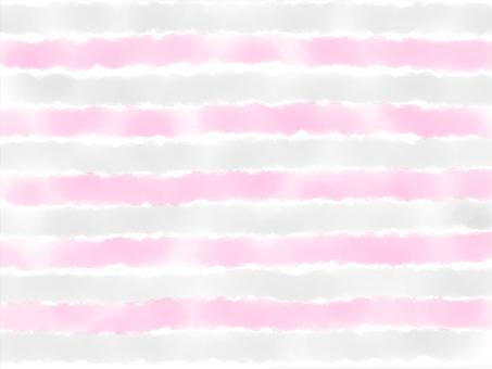 Watercolor border [Pink Gray]