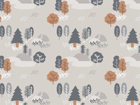 森のパターン 秋冬