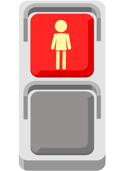 Pedestrian traffic light (red)