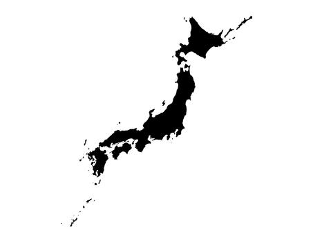 Japan map [4] vector material