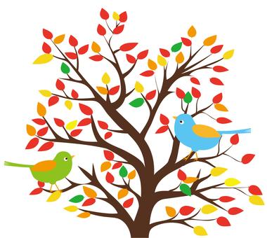 작은 새와 가을