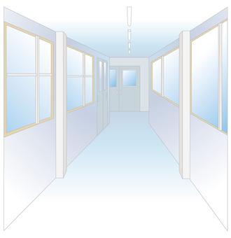 Landscape of the building · corridor