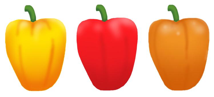 Three color paprika