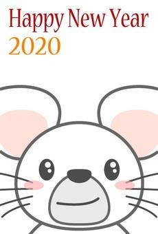 """2020 년 연하장 10 '흰쥐 """""""