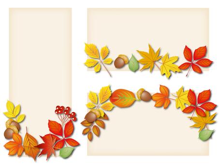 Autumn leaves Momiji leaves card