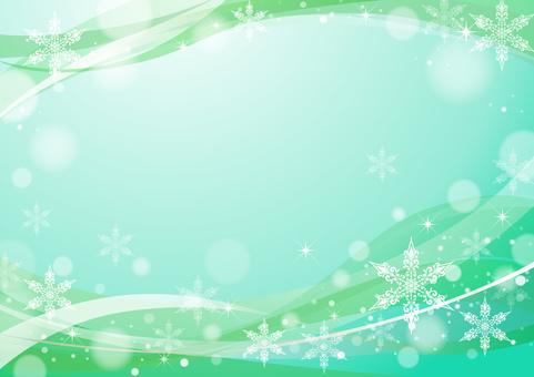 Snow Crystal Frame Green