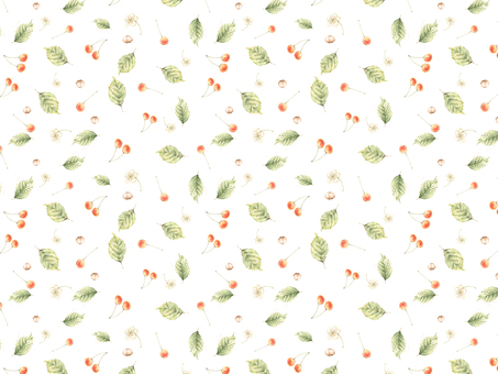 Background - cherry continuous pattern