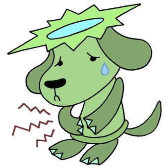 Dog character · abdominal pain