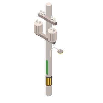 電信柱アイコン立体