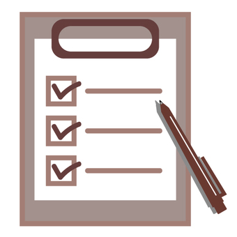 Image of questionnaire check sheet