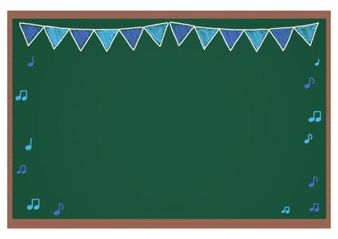Blackboard handwriting style garland