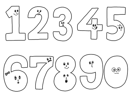 Handwritten numbers Monochrome simple