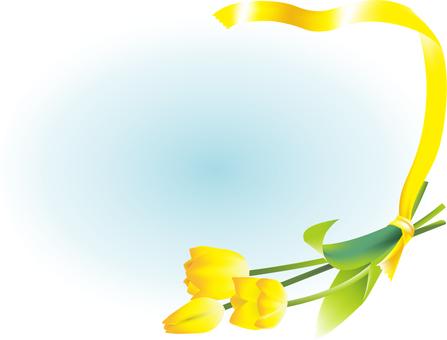 튤립과 노란 리본