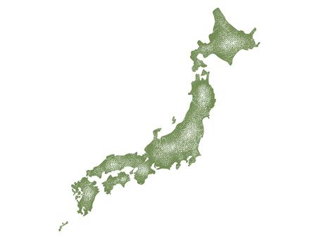日本地図 スタンプ002