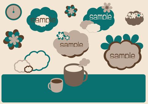 咖啡館風格的插圖