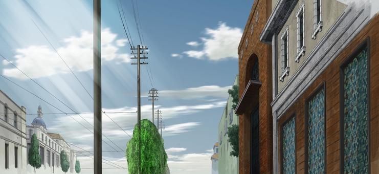 Town in the Taisho era