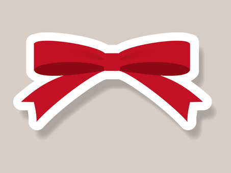Red ribbon with cute border