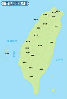 Taiwan Map of ROC
