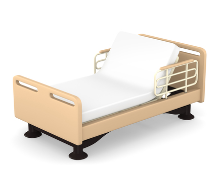 Care bed reclining 3D illustration