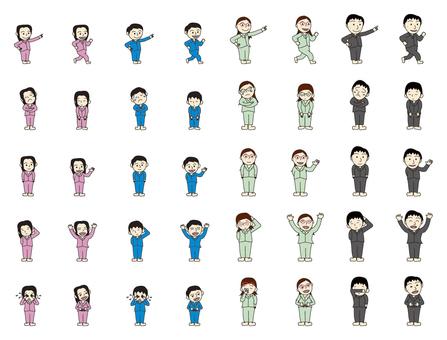 Person figure pajamas appearance