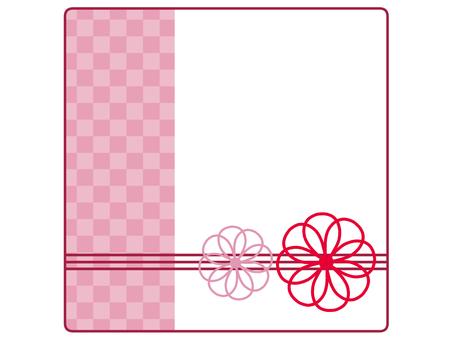 Japanese flower frame square