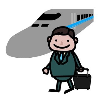 A man riding the Shinkansen
