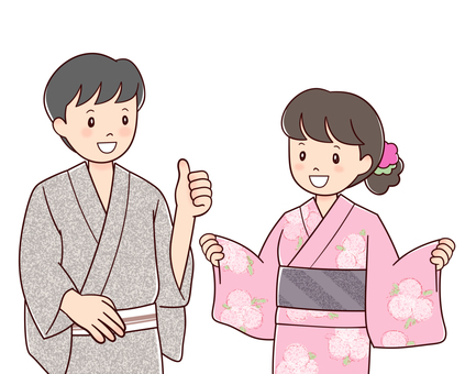 Yukata couple B