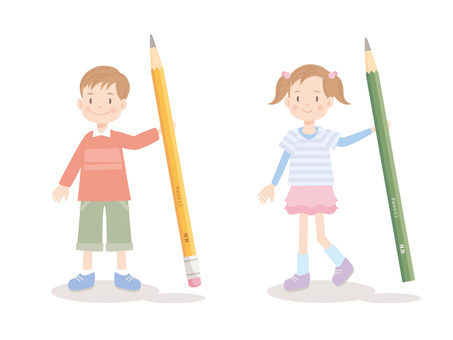 Boys · Girls _ Having a pencil