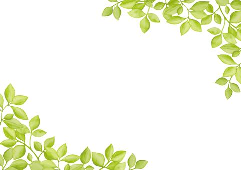 수채화 잎 5
