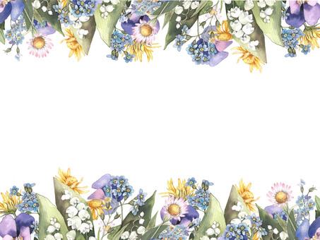 Flower frame 435 Lily of the valley flower frame