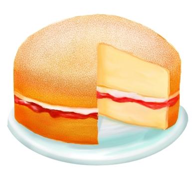 빅토리아 샌드위치 케이크 (단면)