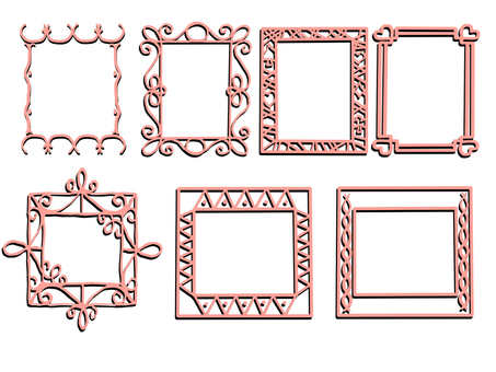 Wire style frame