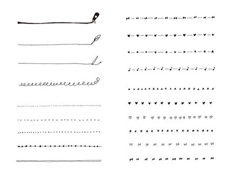 Handwritten line