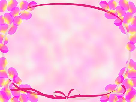 Pink petal and ribbon