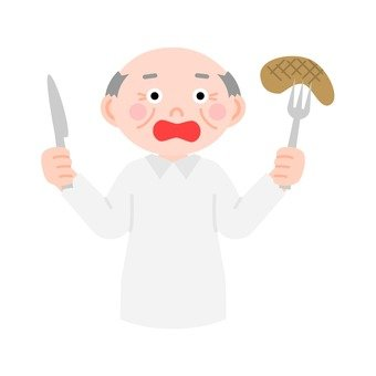 Meal senior male