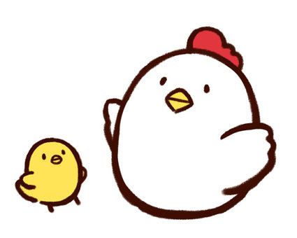 Chicken and chick 02