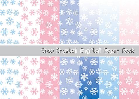 Snowflake pattern material