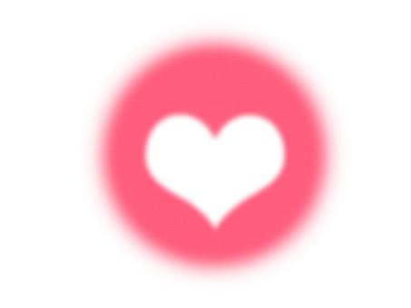 Heart bubble pink