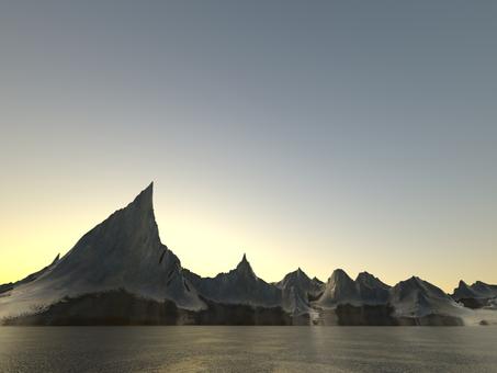 Fantastic fantasy landscape (sunset)