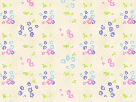 꽃 패턴 02 (네모 피라)