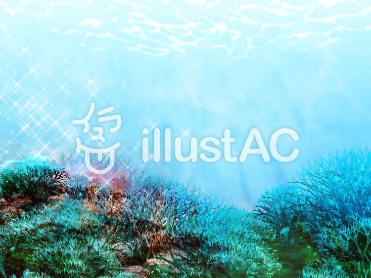 珊瑚の海中のイラスト
