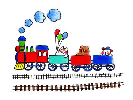 Train POP (colored pencil paint -1)