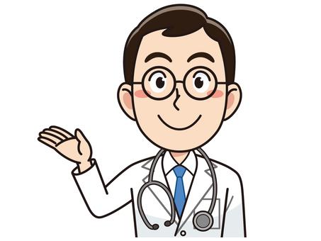 सफेद सूट में पुरुष चिकित्सक