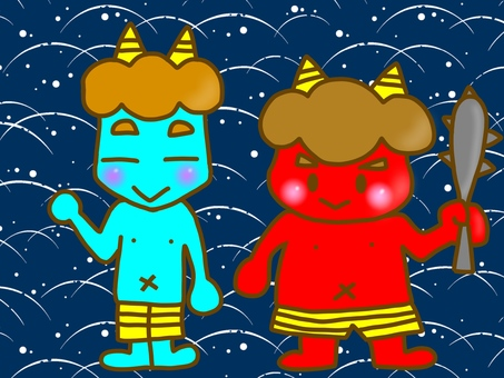 Setsubun's red demons and virtues