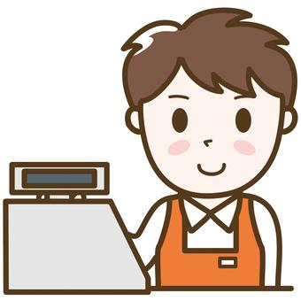 Cash register _ men's clerk c