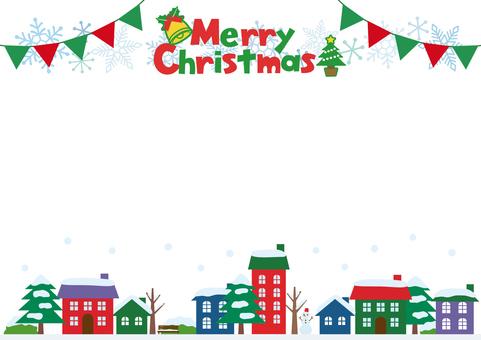 Christmas cityscape frame
